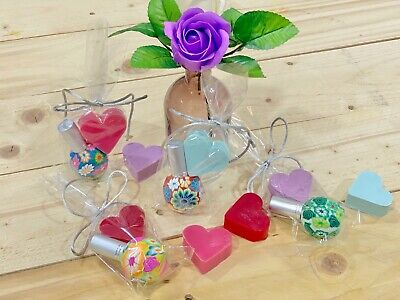 Detalles Bodas comuniones bautizo 20 perfumadores y Jabón de corazón