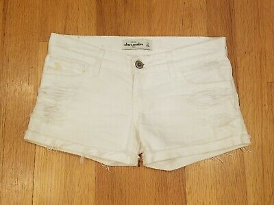 abercrombie kids GIRLS jean SHORTS - Size 12 - Distressed and cute!