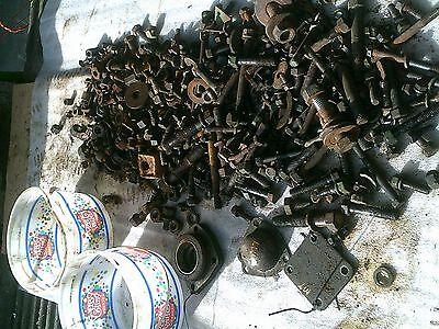John Deere Mt Tractor Original Box Of Jd Parts Bolts Nuts Pieces Caps
