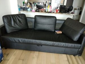 Ikea Sofa bed with storage--Moving Sale , must go by tomorrow
