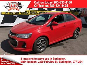 2018 Chevrolet Sonic LT, Automatic, Back Up Camera, Bluetooth,