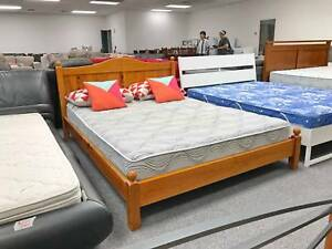 DELIVERY TODAY STRONG SOLID WOOD Queen bed frame (mattress sale)