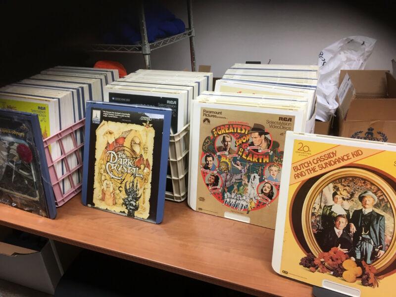 MEGA CED video disc Collection SELECTAVISION 100+ discs