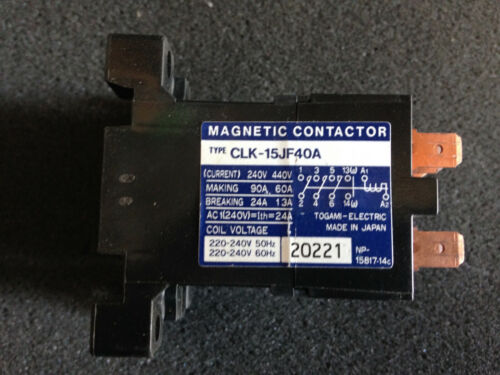 Togami Electric Magnetic Contactor Relay CLK-15JF40A (Hardly Used)