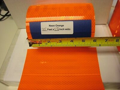 3m Brand Neon Orange Reflective  Conspicuity Tape 5-78 X 25 Ft Very Thick