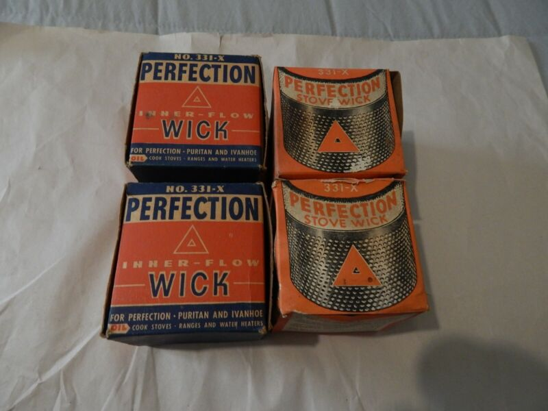 4Perfection 331-X Inner-Flow Wick for Oil Ranges & Cook Stoves NOS Original Box