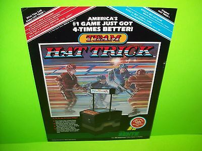 Bally Sente TEAM HAT TRICK Original 1986 Video Arcade Game Promo Sales Flyer