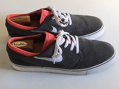 Mens Nike Zoom Stefan Janoski Gray Suede Better World Sneakers 333824-024 US