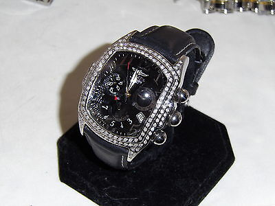"""INVICTA DIAMOND LUPAH """"ONLY ONE LIKE"""" 2 ROW OF DIAMONDS HAVE SEVERAL MORE"""