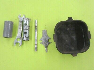 Vintage OEM 1978 Piaggio Vespa Ciao fender rack mount tool kit pan