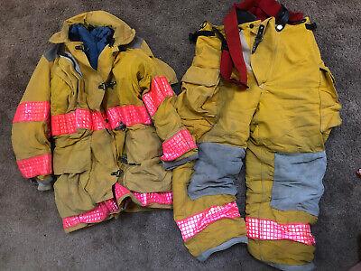 Yellow Globe Turnout Firefighter Fire Gear Set Jacket Pants Size Small S