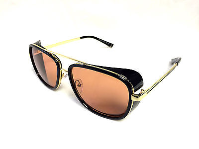 Iron Man Sunglasses ORIGINAL USA Movie Model -  Toni Stark UV Metal Gold (Mannequin Movie Sunglasses)