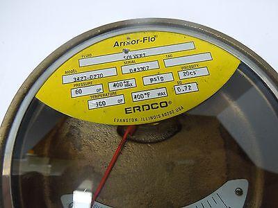 Erdco 3400 Armor-flo Flow Meter 12 Npt Gpm .3 - 3.6 Brass 457l1
