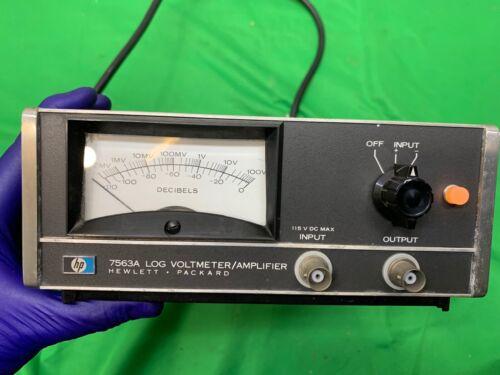HP 7563A Log DC Voltmeter/Converter 110 dB Range