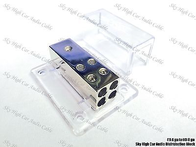 Sky High Car Audio (1) 4 gauge to (4) 8 ga Distribution Block Car Audio Distro