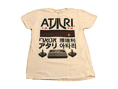 Men's VTG ATARI White SS T-Shirt | Sz Medium | EUC 🔥