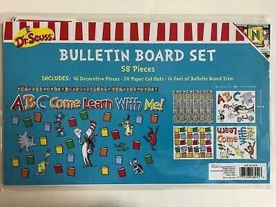 1 Dr. Seuss Bulletin Board set ABC come learn with me classroom decor teacher