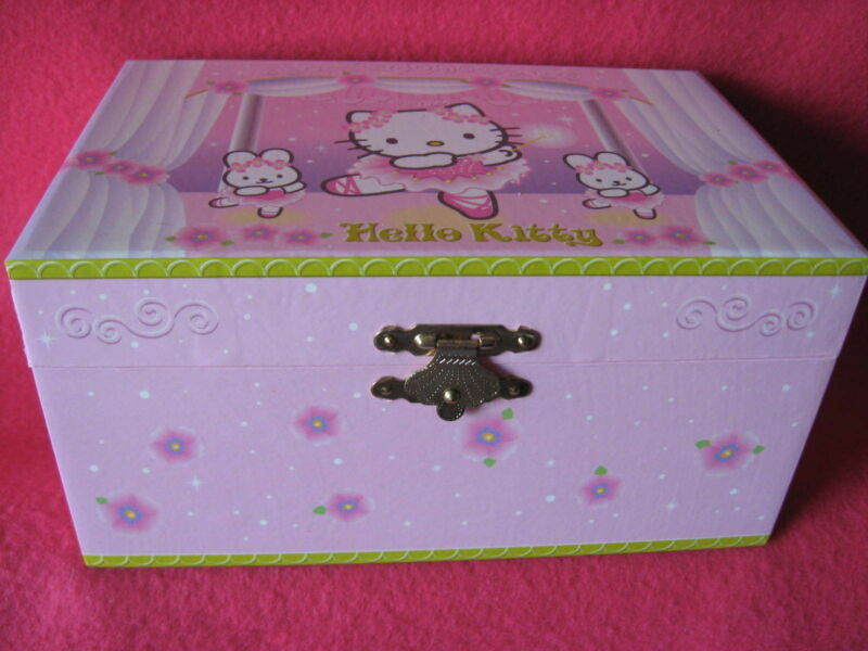 Sanrio HELLO KITTY JEWELRY CASE DANCING BALLERINA VINTAGE 1976-2001  New