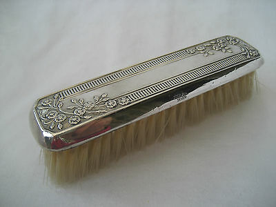 VINTAGE SOLID SILVER BACKED CLOTHES BRUSH - Broadway & Co, 1990.