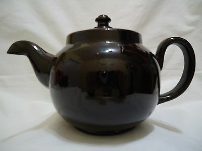 Vintage Teapot ALB England Brown Betty Downturned Spout Alcock Lindley Bloore