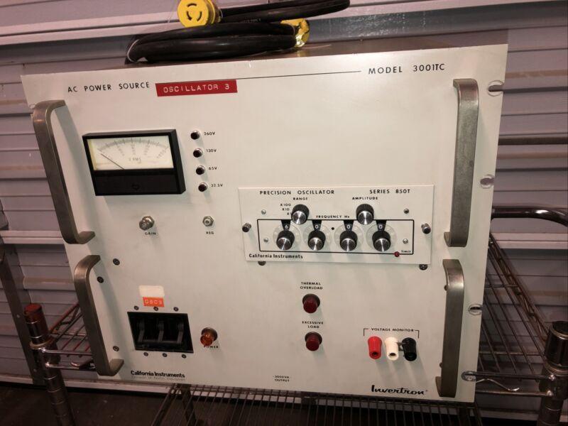 California Instruments Invertron 3001TC AC Power Source