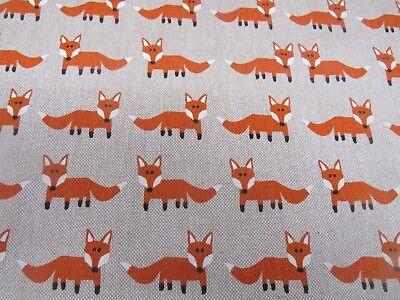 Fabulous Fox (Fabulous Fox Orange & Linen Designer Fabric - Curtain Upholstery Crafts Blinds)