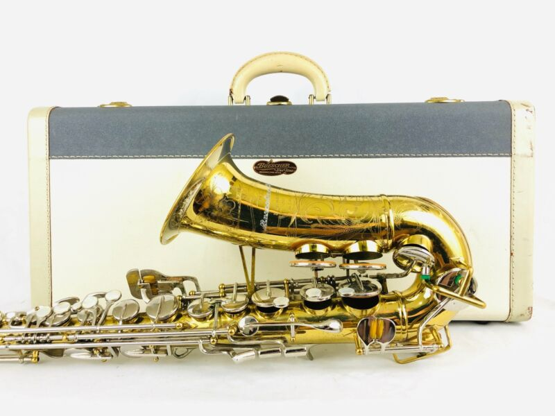 Buescher 400 Top Hat & Cane Alto Saxophone w/Incredible Case!