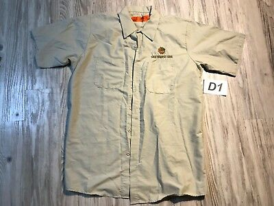 Southwest Gas Las Vegas Nv Uniform Logo Redkap Button Shirt Short Sleeve Large L