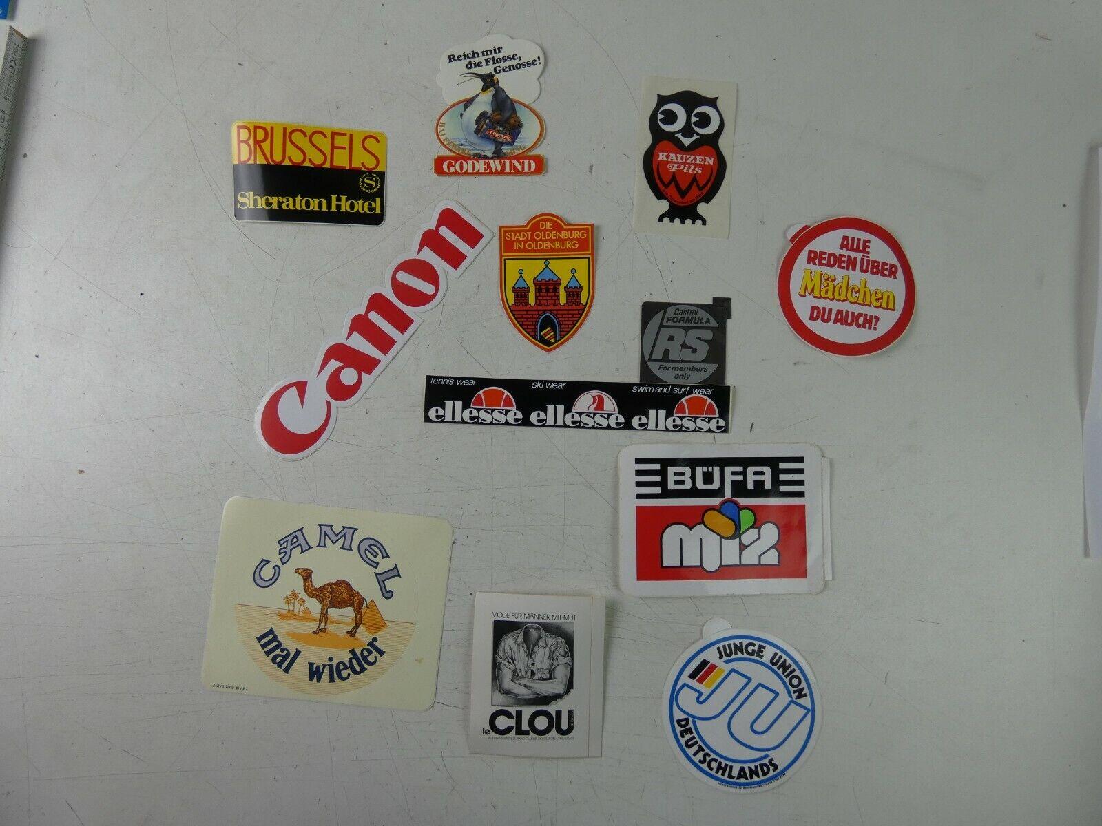 Nescafe Camel Goodyea Verschiedene Marken Nostalgische Aufkleber // Sticker