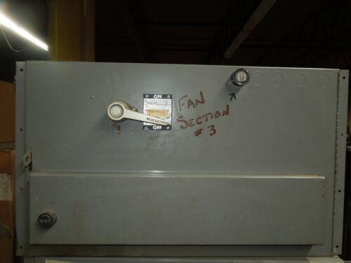 Westinghouse Fdp Mac F Unit A204a3 Size 3 Fvnr 100a 3p 600v Fusible Disconnect