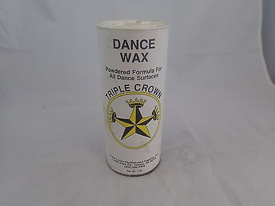 Can of Triple Crown Dance Wax - Dance Powder  One Pound 16 oz