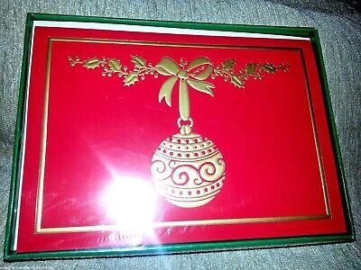 18 Navidad Tarjetas Con / Sobres Vacaciones Ornamento & Acebo Baya en...