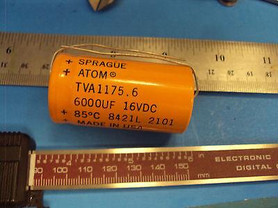 8e 1-pcs Tva-1175.6 Capacitor Sprague Atom 6000uf 16v Tube Amp Made In Usa