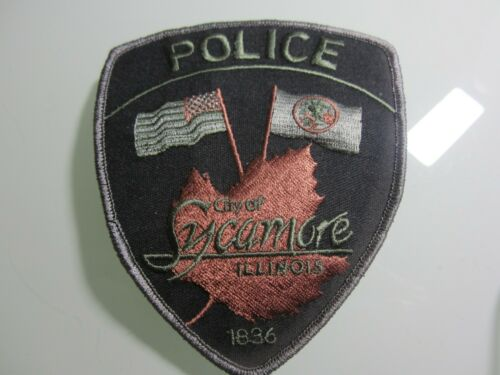 SUBDUED SYCAMORE POLICE DEPT. PATCH (OAK LEAF)