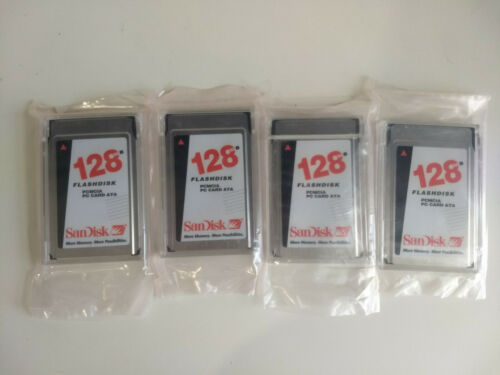 (4x) 128MB Sandisk PCMCIA Card