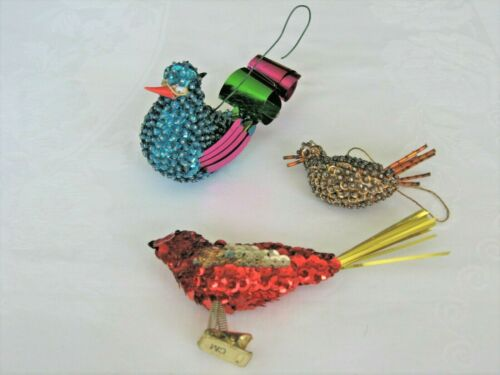 Vintage Christmas Sequin and Beaded Ornaments