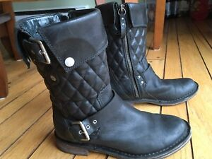 Ugg Leather Bike boots Size 6