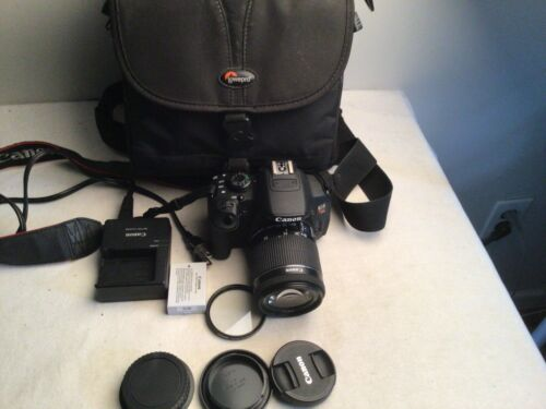 Canon EOS Rebel T5i Digital Camera w/ 18-55mm STM IS LENS + Extras