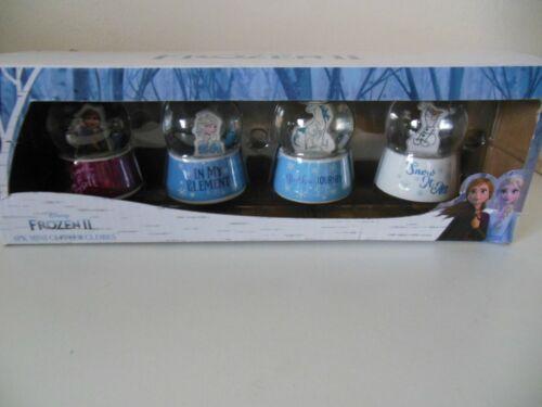 Disney Frozen II 4 Pack of Mini Glitter Globes MIB