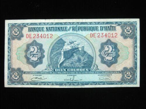 HAITI 2 GOURDES L 1919 1925 - 1932 CIRC 12# Currency Bank Money Banknote