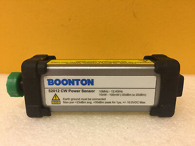 Boonton 52012 10 Mhz To 12.4 Ghz -50 To 20 Dbm Cw Power Sensor. Tested