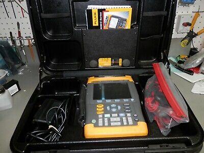Fluke 199c Kit Scopemeter 200mhz 2.5gss Software Case Lead 2
