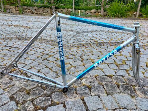 Vintage RAZESA Cromovelato Road Bike Frame and Fork