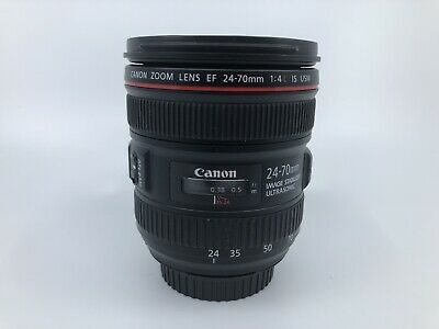 EXCELLENT Canon EF 24-70mm f/4 L IS USM Zoom Lens with Macro