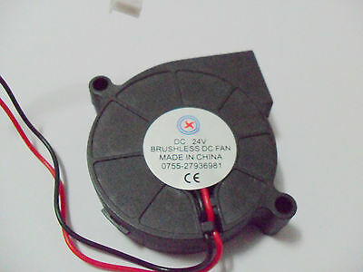 1pcs Brushless DC Cooling Blower Fan DC 24V 0.14A 50x50x15mm 5015S 2pin