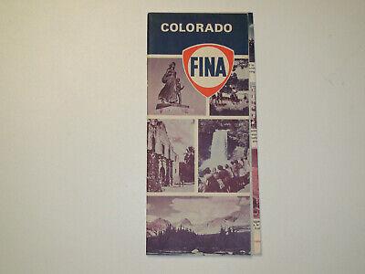Vintage 1967 FINA Colorado Travel Road Map - VG