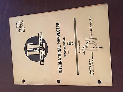 It International Harvester Shop Tractor Service Manual 786 886 986 1086