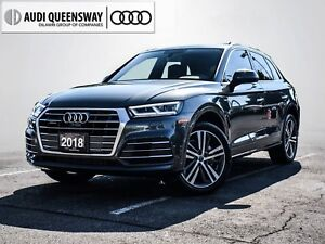 2018 Audi Q5 2.0T Technik, S Line, Comfort Seats, Audi Care