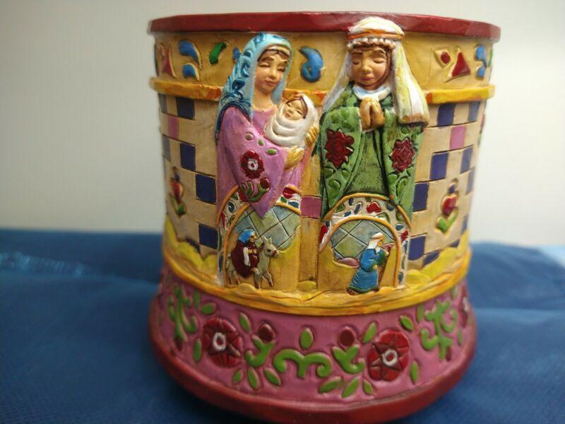 Jim Shore Nativity Scene Votive Electric Candle Warmer Holder
