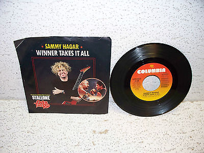 Sammy Hagar Winner Takes It All 45 Rpm Record Single W  Picture Sleeve